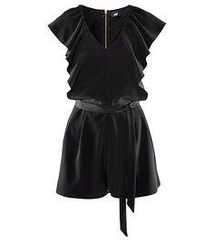 New Fashion Sexy Women Black Ruffle One Piece Dress Pants Design Shorts Tube Romper Jumpsuits Plus Size  US $24.60
