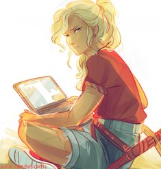 This is the best Annabeth fanart I have seen in like, forever (Viria via tumblr)