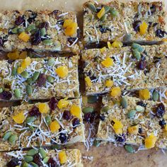 This oat slice makes a yummy addition to the kids lunchboxes. They basically home-made muesli bars, with apricots and some pumpkin seeds added for extra goodness. They keep for about a week in the pantry or fridge (in an airtight … Continued Oat Slice, Muesli Bars, Cake Tins, Healthy Baking, Healthy Recipes, Cooking Recipes, Healthy Appetizers, Healthy Lunches, Healthy Sweets
