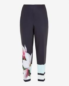 Magnolia Stripe pants - Navy | Pants | Ted Baker