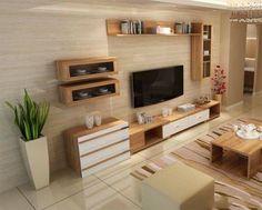 48 Super Ideas For Living Room Tv Wall Decor Apartments Furniture Tv Unit Decor, Tv Wall Decor, Wall Tv, Tv Cabinet Design, Tv Wall Design, Tv Console Design, Tv Console Decorating, Tv Console Modern, Tv Unit Furniture