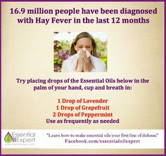 Hay Fever Essential Oil Remedy