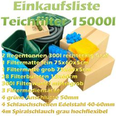 Teichfilter Aufbau und Filtermedien Reihenfolge   Teichfilter Filters, Sketches, Tutorials, Binoculars