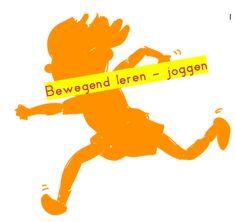 Bewegend leren - Joggen met letters en woorden Spelling, School, Letters, Teaching, Scrabble, Fictional Characters, Dyslexia, Letter, Fonts