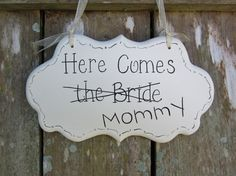 Wedding Sign Funny Hand Painted Wooden Shabby Sign by kimgilbert3, $24.00