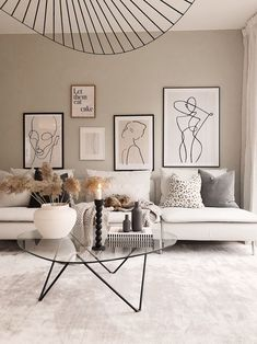 Neutral Home Interior Decor Design Style House Living Room Lounge Room Sofa Artw. - Neutral Home Interior Decor Design Style House Living Room Lounge Room Sofa Artwork - Scandi Living Room, Living Room Lounge, Living Room Interior, Home Living Room, Apartment Living, Living Room Designs, Living Room With Carpet, Living Room Wall Art, Scandinavian Interior Living Room