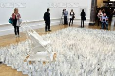 Ai Weiwei press preview at the RA London, Britain - 15 Sep 2015  Ai Weiwei. Marble Stroller, 2014 15 Sep 2015
