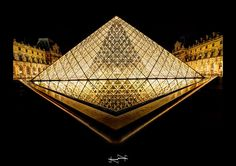 night louvre en OR HDR ~ Paris ~ France ~ Louvre ~by D.F.N.