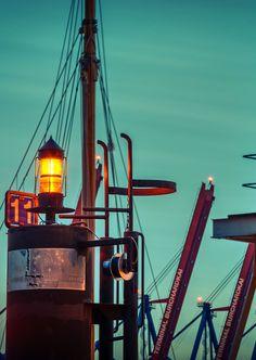 Hamburger Hafen Positionslichter am Burchardkai | Bildschönes Hamburg
