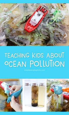 Ocean Pollution For Kids A Hands On Activity To Teach Children - Inside Teach Kids All About Ocean Pollution And The Marine Ecosystem With This Hands On Pollution Sensory Bin Plus See All Our Fun Ocean Kids Activities Here Teaching Children About Marine P Ecosystem Activities, Eyfs Activities, Ocean Activities, Earth Day Activities, Hands On Activities, Ocean Games, Ecosystems Projects, Recycling Activities For Kids, Ocean Projects