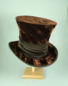 76ca6416a20 Tall Toad Original Hats · Mad Hatter top hats with crushed velvet and satin  sash. They are 8 1
