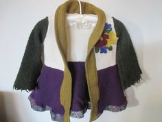 Flowers Blooming in the Garden Coat/Cardigan -100% Wool Reformed by ReformaGlory   Felt