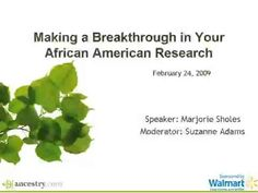 Making a Breakthrough in your African American Research