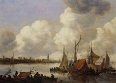 Jan van Goyen - Rivierlandschap met gezicht op Rhenen