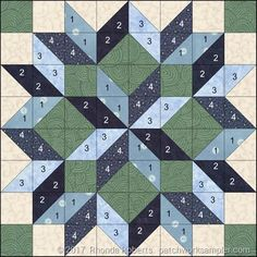 Billedresultat for carpenter's star quilt pattern king size Learn how to simplify the construction of this beautiful quilt block. No directions, just the picture. Big Block Quilts, Star Quilt Blocks, Star Quilts, Mini Quilts, Barn Quilt Designs, Barn Quilt Patterns, Pattern Blocks, Triangle Quilt Pattern, Quilt Block Patterns