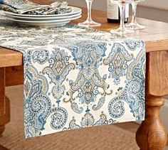 Mansfield Table Runner #Pottery Barn
