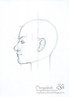 Artystyczne Ciekawostki Marcysibush: Jak rysować twarz z profilu - praktyka