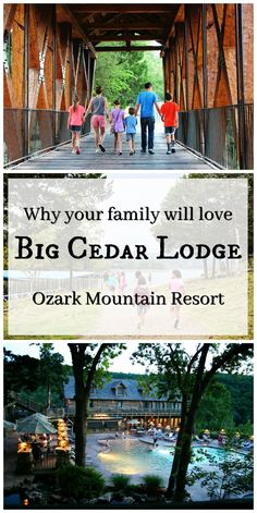 When we lived near Kansas City, our absolute favorite family get-away was the breath-taking Big Cedar Lodge.  An Ozark mountain resort parked on Table Rock Lake just 10 miles south of Branson, Missouri, this resort is great in spring, summer, fall, and winter.  Big Cedar Lodge offers outdoor fun and indoor luxury for all ages. So many things to do here! You'll soon see why this resort has won a slew of awards and why families from all over the U.S. travel here for vacation time and again.