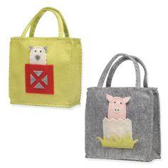 Farm Animal Finger Puppet Bag