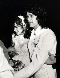 this was actually the 70's- but they were married throughout the 80's and were my fave couple! EDDIE VAN HALEN & VALERIE BERTINELLI