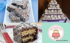 LAMINGTONS – BOLO AUSTRALIANO de chocolate com coco!!
