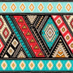 Illustration of Geometric aztec pattern. Tribal tattoo style can be used for textile, yoga mats, phone cases, rug vector art, clipart and stock vectors. Tribal Pattern Art, Aztec Print Patterns, Bohemian Pattern, Abstract Pattern, Tribal Sleeve Tattoos, Wing Tattoos, Star Tattoos, Estilo Tribal, Africa Art