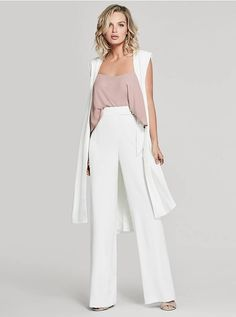 96405709c7ee Drape over an outfit for an effortless business casual look  Mika Long  Draped Vest Long