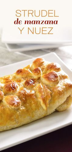 Apple and Nut Strudel Apple Recipes, Sweet Recipes, Mexican Food Recipes, Dessert Recipes, Delicious Desserts, Yummy Food, Pan Dulce, Latin Food, Sweet And Salty