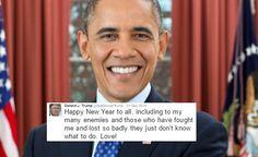 Obama Just Put Trump's Childish New Year's Tweet To Shame