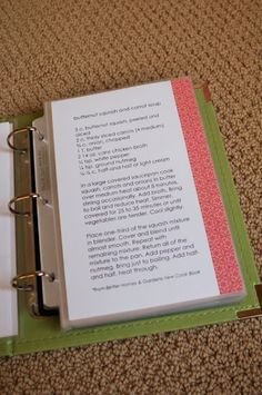 Great way to organize recipes! (Would make a great wedding gift too!)