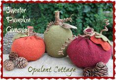 Opulent Cottage: Sweater Pumpkin Giveaway!