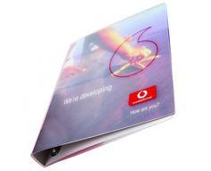 Vodafone Polypropylene Ring Binders - a creative packaging solution Box Supplier, Packaging Solutions, Ring Binder, Journal Notebook, Creative, Caro Diario
