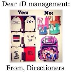 Exactly! I search up 1D merchandise and almost everything I see is stuff like the things on the right pic -_- like no. Just no.