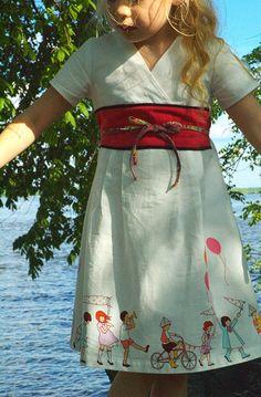 Library dress - Oliver + S - Sarah Jane, Michael Miller, by Autant en emporte l'automne