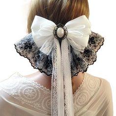 Pin on リボン Kawaii Fashion, Lolita Fashion, Cute Fashion, Vintage Fashion, Diy Hair Accessories, Fashion Accessories, Estilo Lolita, Old Fashion Dresses, Diy Hair Bows