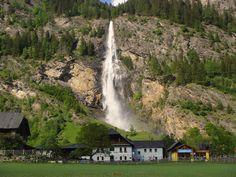 Maltatal Fallbach Falls Austria.