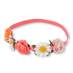 Girls Flower Crown Headwrap - Pink - The Children's Place