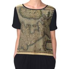 'Antique Map of Britain, by Abraham Ortelius, circa Tote Bag by ModernFaces Map Of Britain, Graphic Tank, Vintage World Maps, Tote Bag, Tank Tops, Antiques, Women, Fashion, Chiffon Tops
