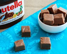 Easy Nutella Fudge - Melt it, Mix it, Chill it, Eat it!! #recipe #nomnomnom