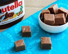 Easy Nutella Fudge - Melt it, Mix it, Chill it, Eat it!! #recipe #nomnomnom
