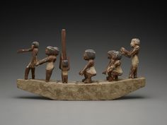 Model of a Processional Boat, Egyptian, 2649-2134 B.C.