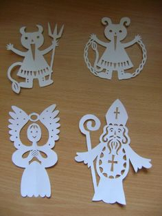 české vánoce Yule Crafts, Xmas Crafts, Diy And Crafts, Kirigami, Victorian Angels, Saint Nicholas, Christmas Inspiration, Paper Cutting, Advent