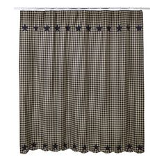 Create a country bathroom with our Black Star shower curtain. It features black and khaki check and compliments other decor from Primitive Star Quilt Shop. Cincinnati, Primitive Bathrooms, Chandelier, Striped Shower Curtains, Shower Curtain Rods, Rustic Colors, Colorful Curtains, Placemat Sets, Laundry In Bathroom