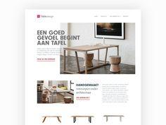 Furniture website by Jim van Eijk
