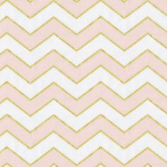 Peach Pink and Gold Chevron Fabric by the Yard | Carousel Designs. A little zig, a little zag, add a splash of gold metallic, and you have the perfect chevron! This fun fabric is the great companion for the Pink and Gold Dot or all by itself. Printed on soft 100% quilting weight cotton.
