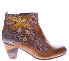 Spring Step L'Artiste Leather Ankle Boots -Dramatic - A337299 — QVC.com