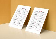 Plantilla Gratis Calendario de Bolsillo 2018 para Imprimir