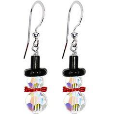 Handcrafted Snowman Earrings MADE WITH SWAROVSKI ELEMENTS Body Candy http://www.amazon.com/dp/B003ELF1OW/ref=cm_sw_r_pi_dp_sPXxub1QKT2RB
