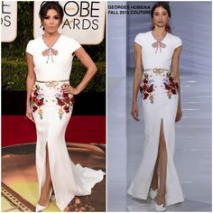 Eva Longoria in Georges Hobeika at the 73rd Annual Golden Globe Awards