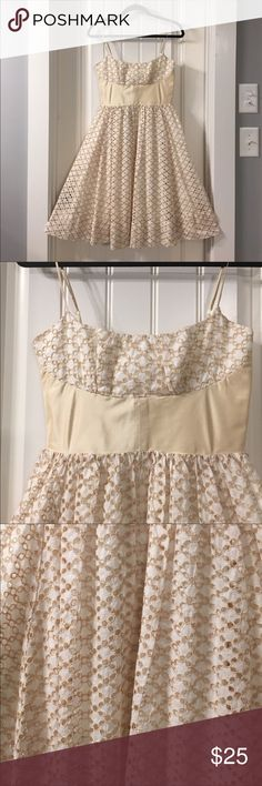 Tracy Reese Anthropologie Indian Silk Eyelet Dress EUC and flawless.  Tracy Reese is a high end designer whose styles are being sold at Anthropologie.  This is a beautiful Indian Silk Dress from Anthropologie perfect for the holidays or party. Anthropologie Dresses